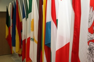 Прапори держав-членів ЄС у новій будівлі Представництва