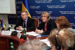 Марія Юрікова, заступник голови Представництва ЄС в Україні, та Борис Жебровський, заступник міністра освіти і науки, молоді та спорту