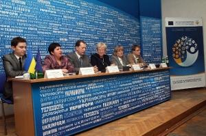 """Учасники прес-конференції з нагоди запуску проекту """"Знову до роботи"""""""
