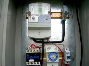 обладнання автоматики, що керує економічним режимом вуличного освітлення у с. Порохня