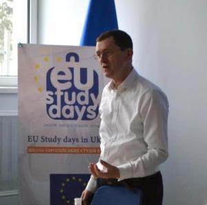 Керівник Управління програм допомоги в Україні та Координатор з питань співпраці Представництва ЄС в Україні, на EU Study Days