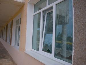 Нові вікна, надані школі завдяки підтримці уряду Німеччини