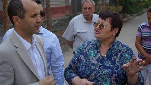 Мамар Мерзук, голова Представництва ECHO в Україні, на зустрічі з громадянами України