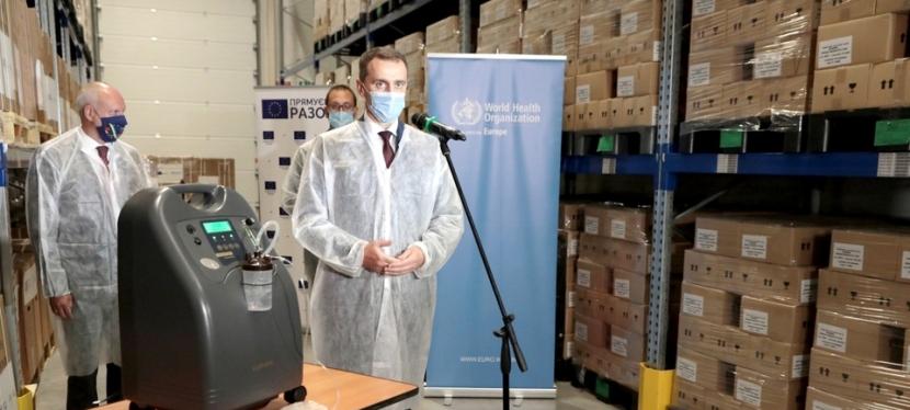 ЄС і ВООЗ передали 44 лікарням України понад 100 кисневихконцентраторів